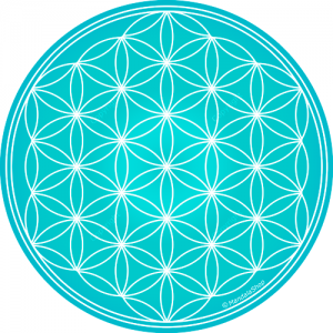 Round mouse pad - Turquoise Flower of Life