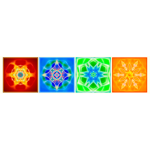 Canvas of the 4 elements (Earth, Water, Air, Fire)