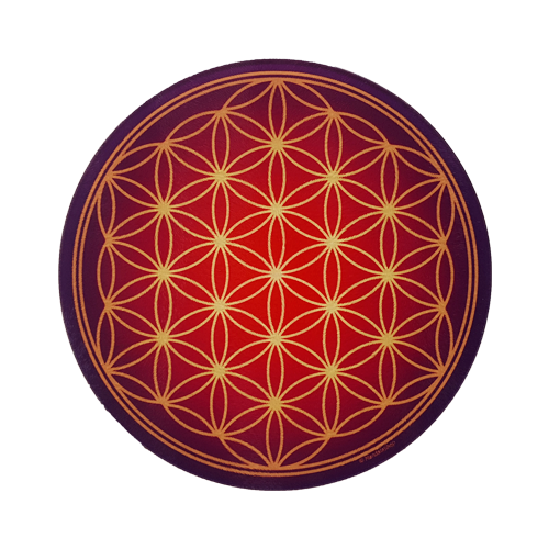 Round Energising Plate Antique Flower of Life