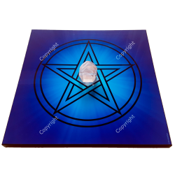 Wooden energising tray with Pentacle