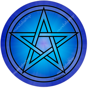 Round mouse pad Pentacle