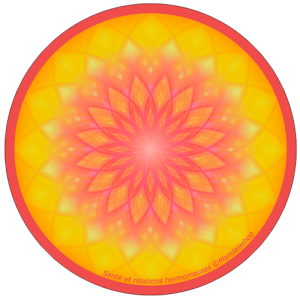 Harmonising disk Mandala Health and harmonious relations