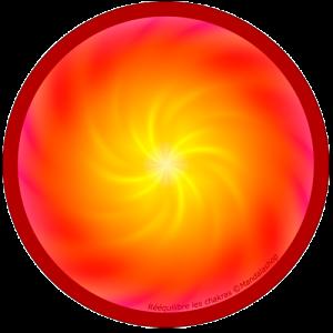 Harmonising disk Mandala that re-balances the chakras