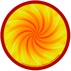Harmonising disk Mandala that gives energy and impulse