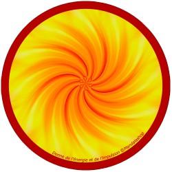 Harmonising disk Mandala that gives energy and impulse