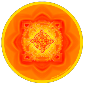 Harmonising disk Mandala of Gratitude