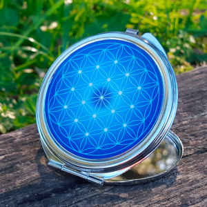 Flower of Life Pocket Mirror - 7 colours at choice (from red to purple)