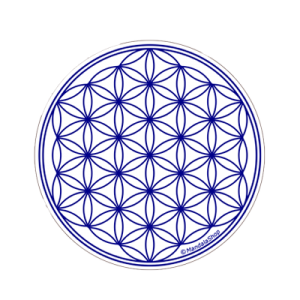 White Flower of Life Round Magnet