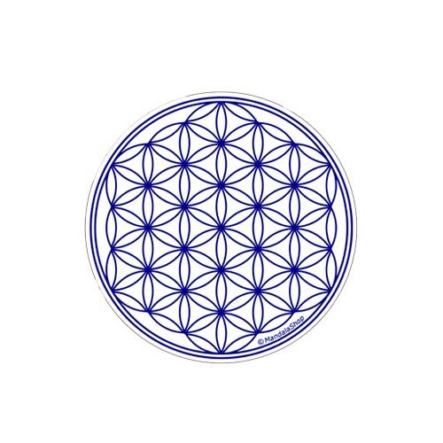 White Flower of Life Round Magnet
