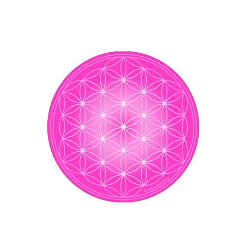 Rose Flower of Life Round Magnet