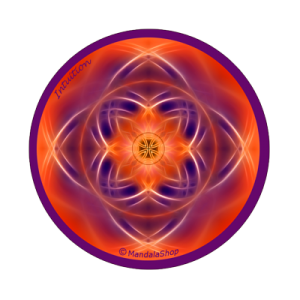 Round magnet mandala of Intuition