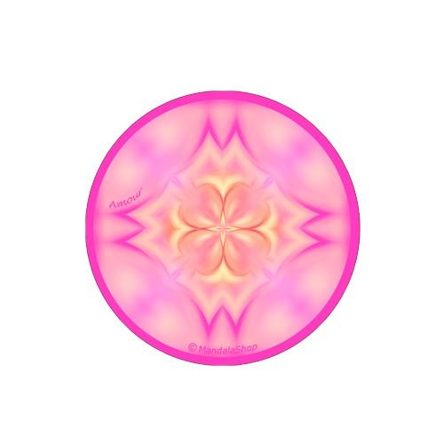 Round magnet mandala of Love