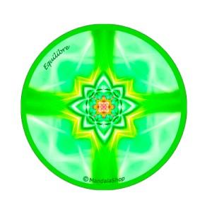Round magnet mandala of Balance