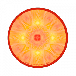 Round magnet mandala living with one's soul