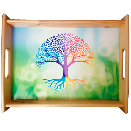 Large serving tray Tree of Life