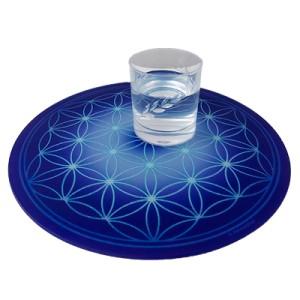 Round Energising Plate Indigo Flower of Life