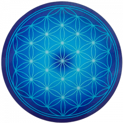Round Energising Plate Blue Flower of Life