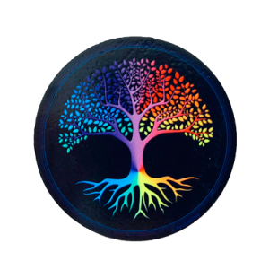 Tree of Life Round Magnet (back background)