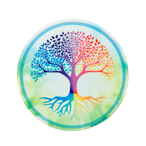 Tree of Life Round Magnet (green background)