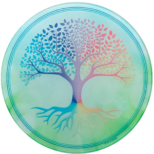 Round Energising Plate Tree of Life