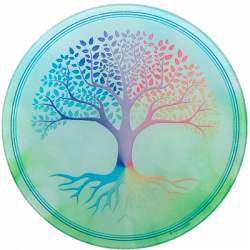Round Energising Plate Tree of Life