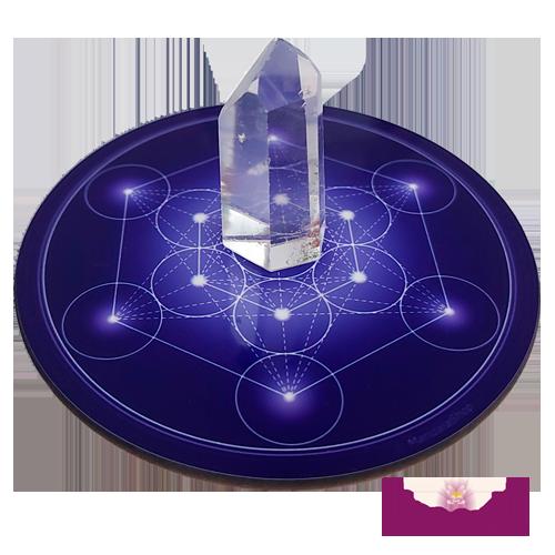 Disque harmonisant Cube de Métatron - 7 couleurs au choix (du rouge au violet)