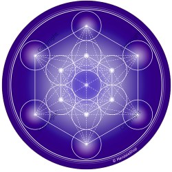 Round mouse pad Indigo Metatron's Cube