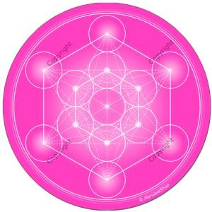 Harmonising disk Rose Metatron's Cube