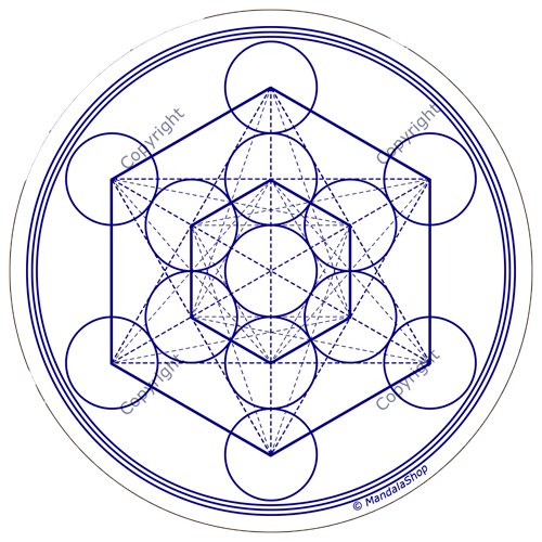 Harmonising disk White Metatron's Cube