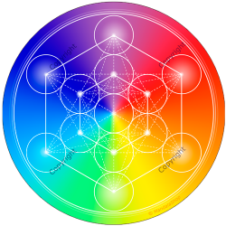 Harmonising disk 7-ray Metatron's Cube