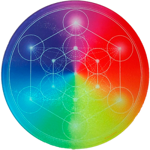 Round Energising Plate 7-Ray Metatron's Cube
