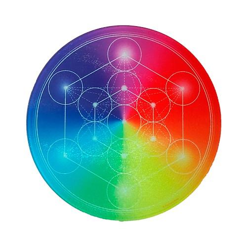 Round Energising Plate 7-Ray Metatron's Cube