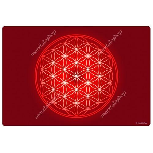 Red Flower of Life Harmonising Mat