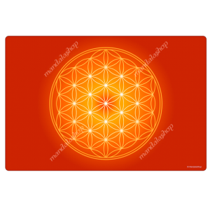 Orange Flower of Life Harmonising Mat