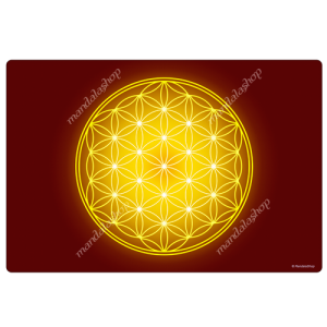Yellow Flower of Life Harmonising Mat