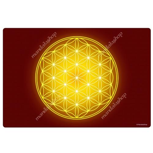 Yellow Flower of Life Harmonising Mat