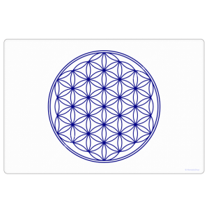 White Flower of Life Harmonising Mat