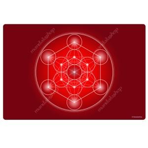 Red Metatron's Cube Harmonising Mat