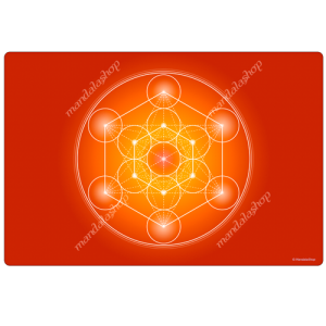 Orange Metatron's Cube Harmonising Mat