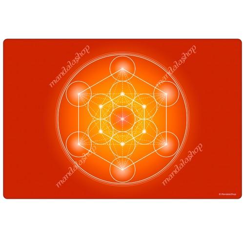 Orange Metatron's Cube Harmonising Mat