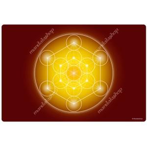 Yellow Metatron's Cube Harmonising Mat