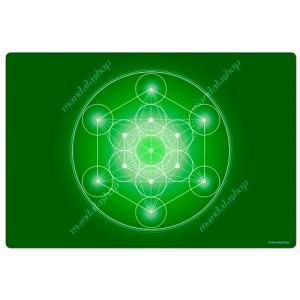 Green Metatron's Cube Harmonising Mat