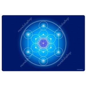 Blue Metatron's Cube Harmonising Mat