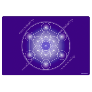 Indigo Metatron's Cube Harmonising Mat