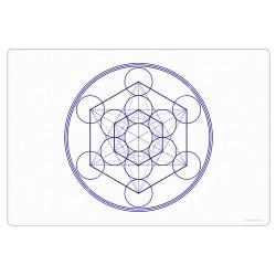 White Metatron's Cube Harmonising Mat