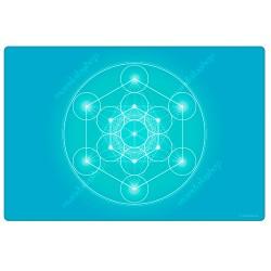 Turquoise Metatron's Cube Harmonising Mat