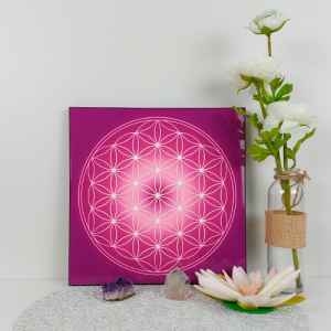 Flower of Life wooden energising tray (7 colours at choice)