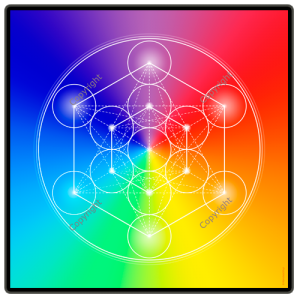 Wooden energising tray with 7-ray Metatron's Cube