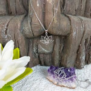 Lotus Flower Bracelet and pendant