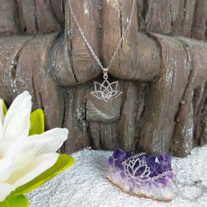 Lotus Flower Bracelet and pendant